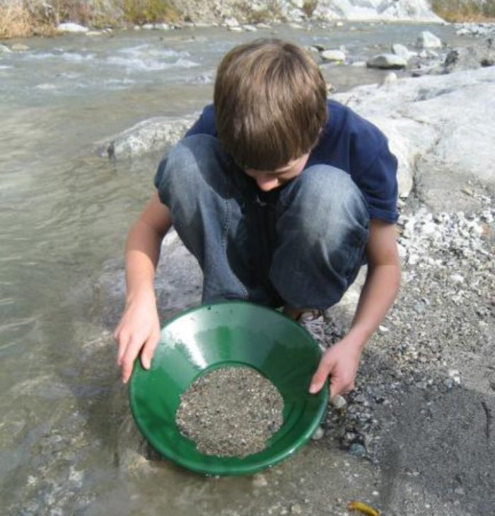 Boy Panning for Gold Edit